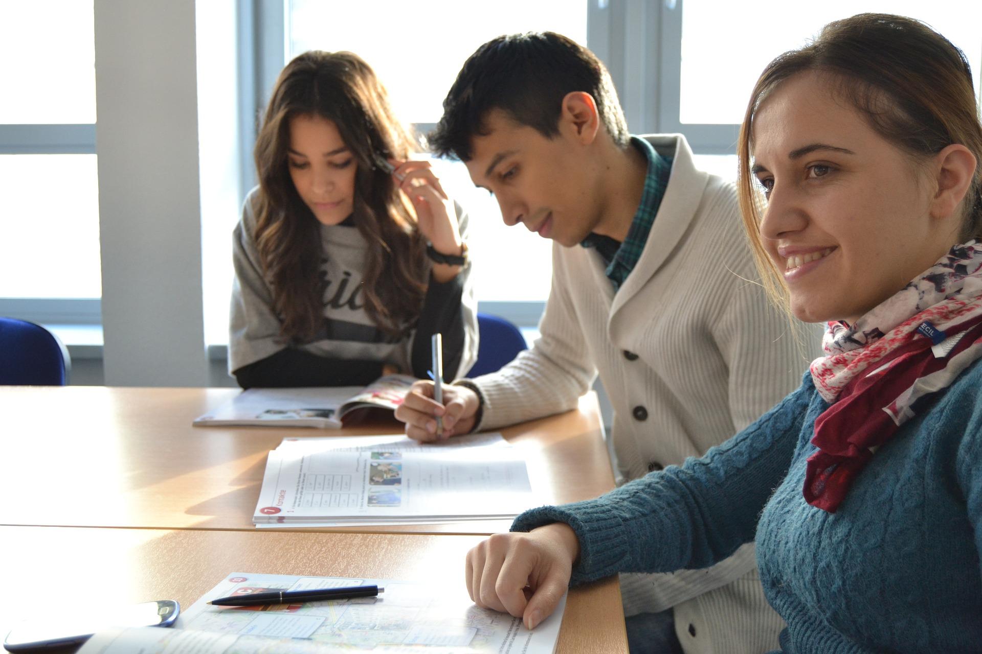 Employees learning English